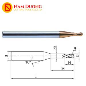 Dao phay cầu cổ dài hợp kim long neck