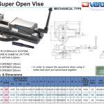 Ê tô máy phay độ mở lớn VJ của Vertex
